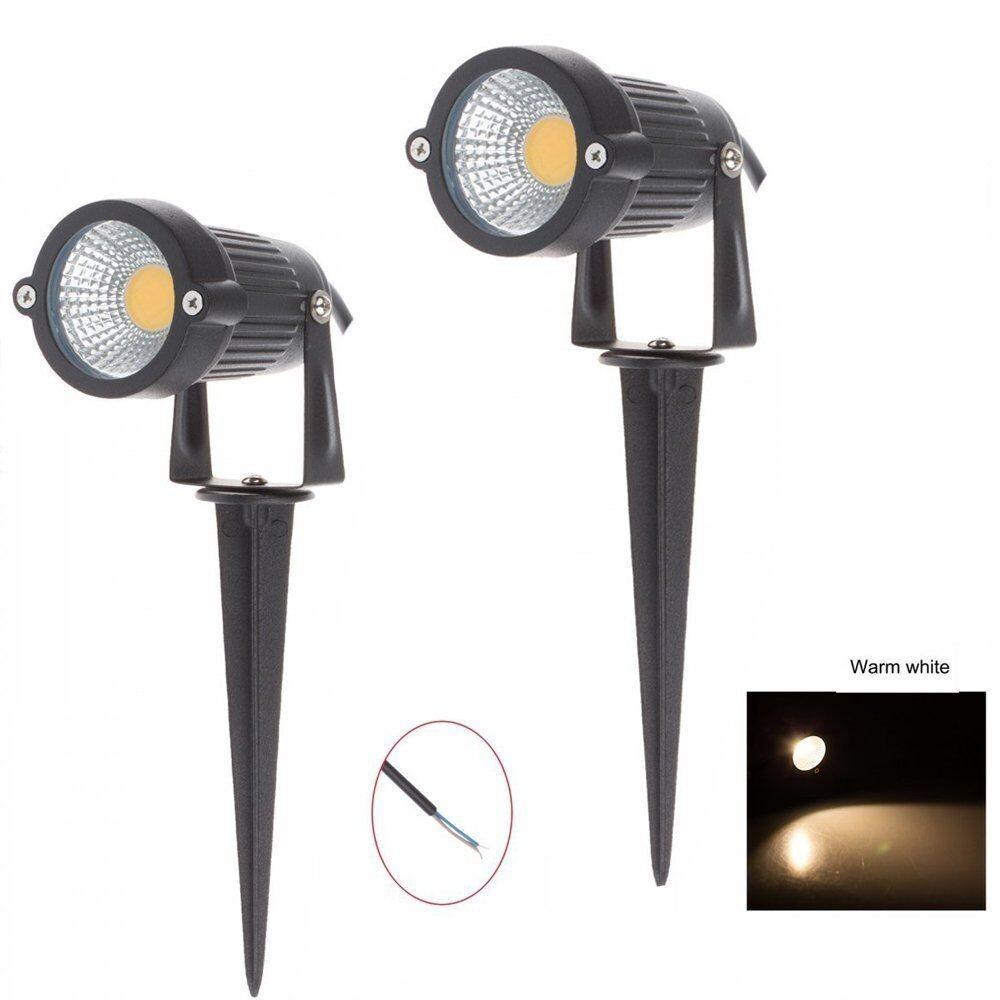 LemonBest-Waterproof 3W/5W COB LED Lawn Garden Flood Light Yard Patio Path Spotlight Lamp with Spike