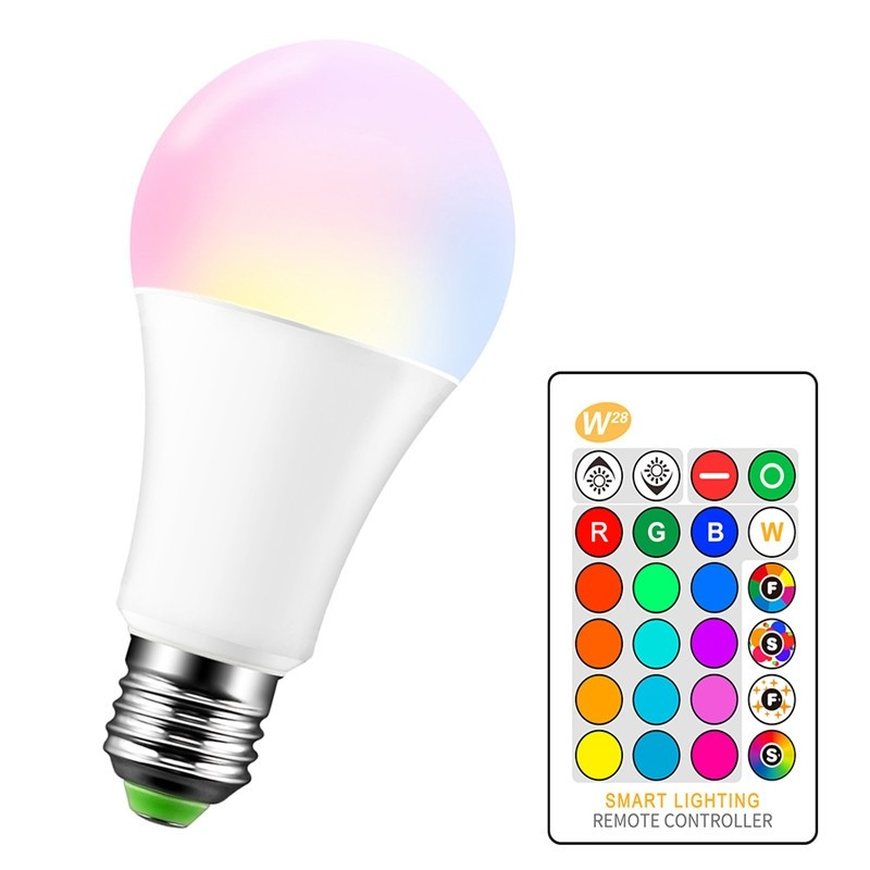 15W RGBW LED Bulb E27 Color Changing Atmosphere Lighting LED Lamp Flash Strobe Fade Mode Bar KTV Decorative Lights