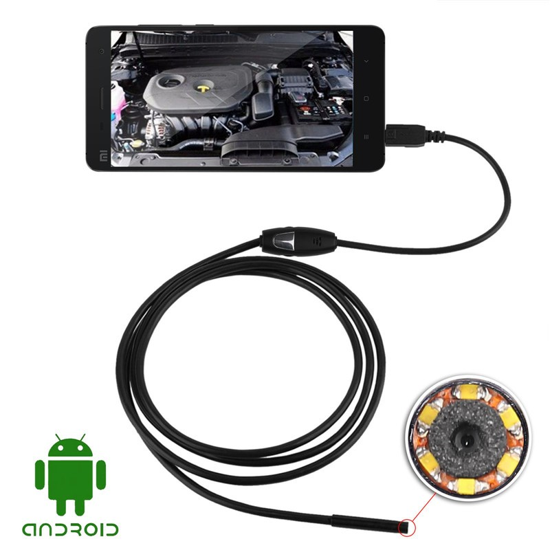 2M/3.5M/5M Waterproof 5mm Android USB Endoscope Inspection Camera Micro Tube Camera for Mobile Phone PC