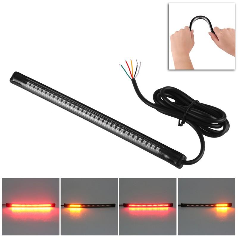 "LemonBest-Universal Flexible 32LED Motorcycle Light Strip Tail Brake Stop Turn Signal   Lights License Plate Light 8"""