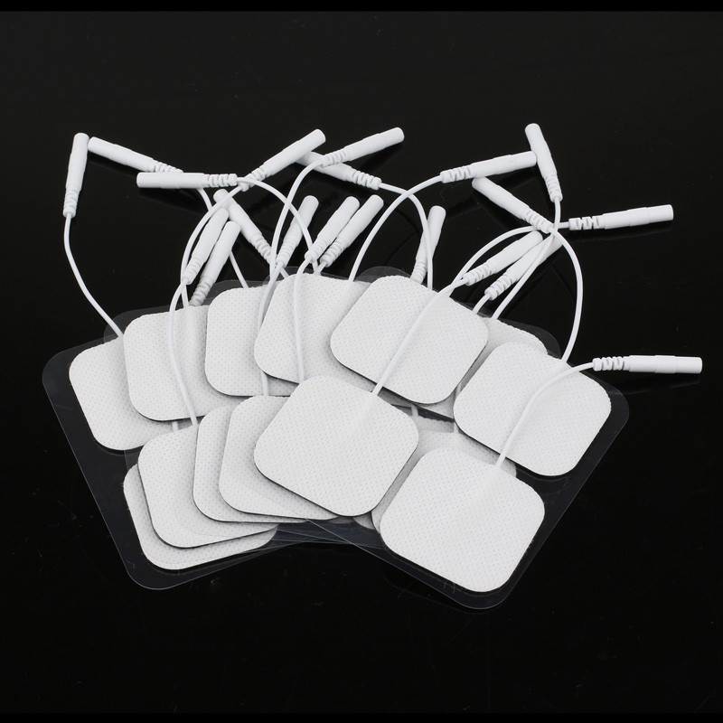 LemonBest-20 Piece Electrode Pads Tens Electrodes for Tens Digital Therapy Machine Massager 4*4cm with 2mm Plug