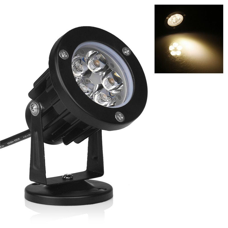 LemonBest-5W LED Lawn Garden Flood Light Yard Patio Path Spotlight Lamp with Base   Waterproof