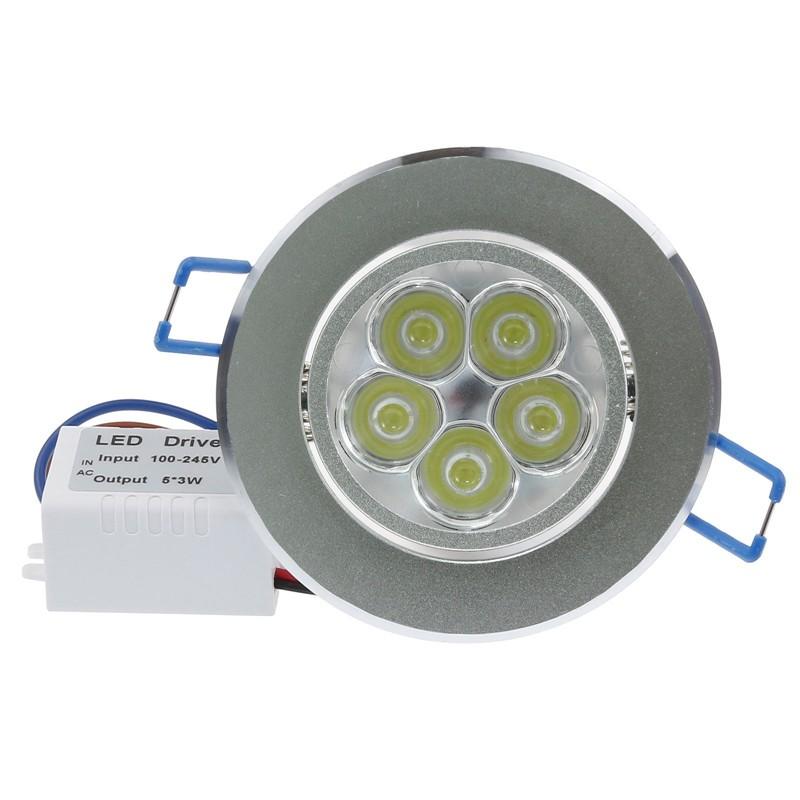LemonBest - 15W LED Ceiling Light Recessed Spotlight Downlight Cool White 100-245V