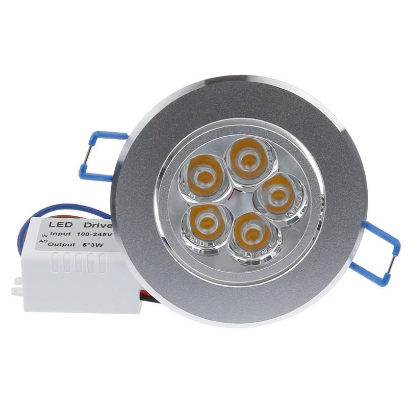 LemonBest - 15W LED Ceiling Light Recessed Spotlight Downlight Warm ...