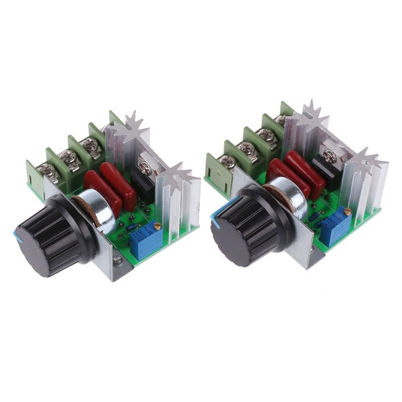 LemonBest-2Pcs 2000W 220V AC SCR Electronic Voltage Regulator Module Motor Speed Control Controller board