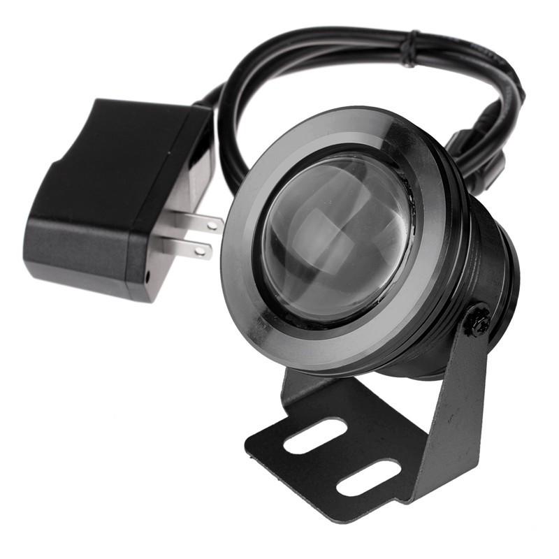 LemonBest-IP68 1000LM 10W Warm/ Cool White LED Underwater Fountain Light Spotlight Pool Pond Fish Tank Aquarium LED Light Lamp (US Plug)