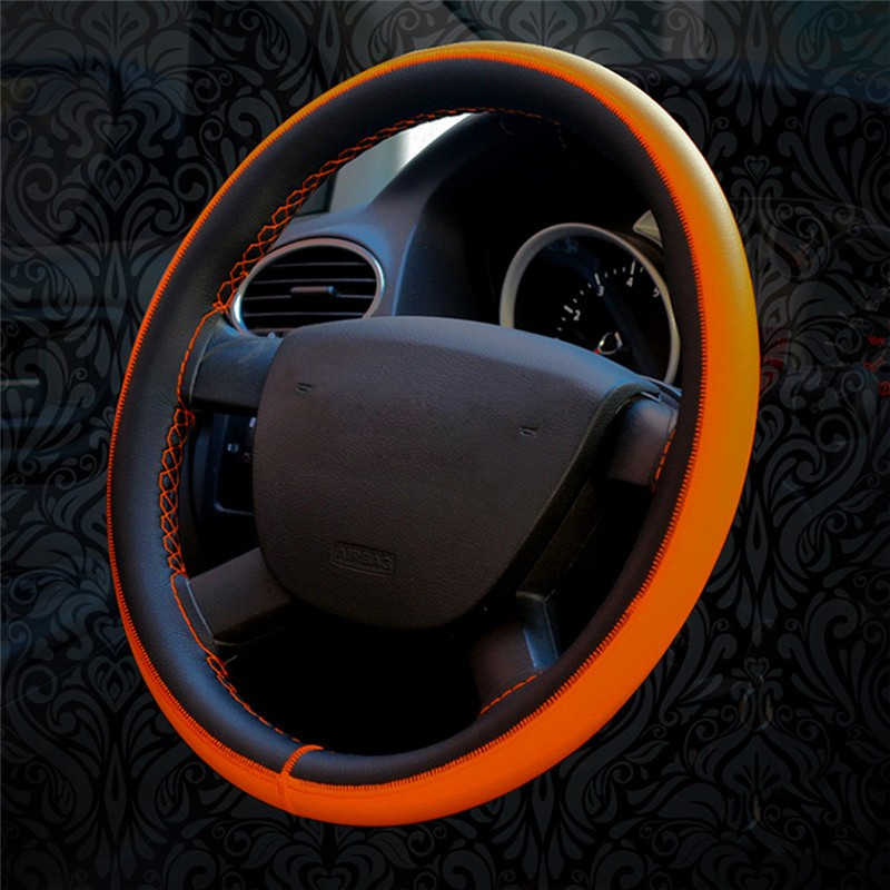 Universal Diy Leather Car Steering Wheel Cover Auto Car