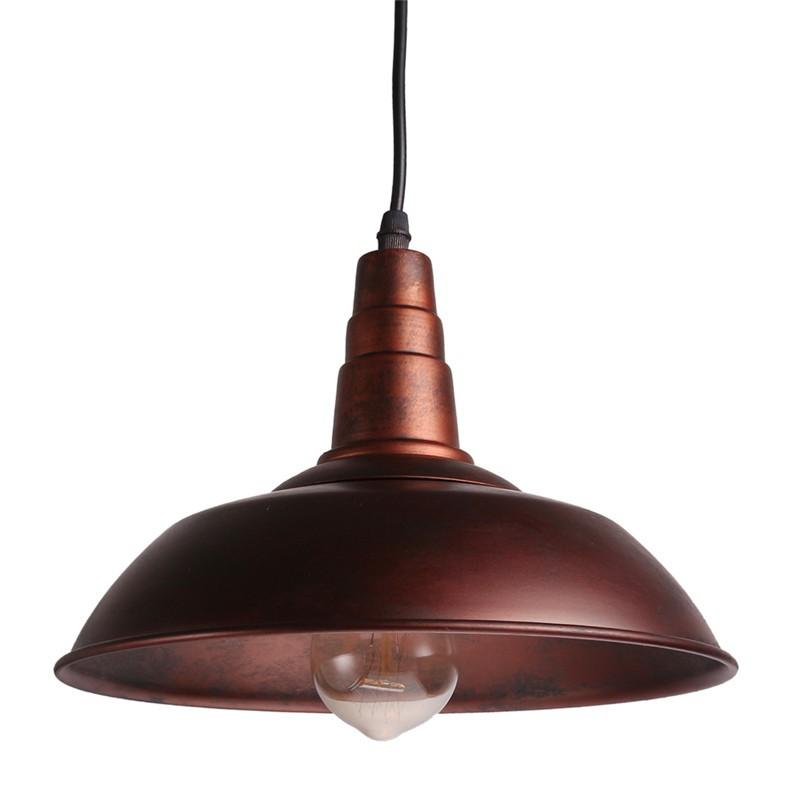 """LemonBest-Industrial Vintage Loft Light Retro Pendant Lamp Sconce Factory Edison Ceiling Lights Fixtures Diameter 26cm/10.2"""""""