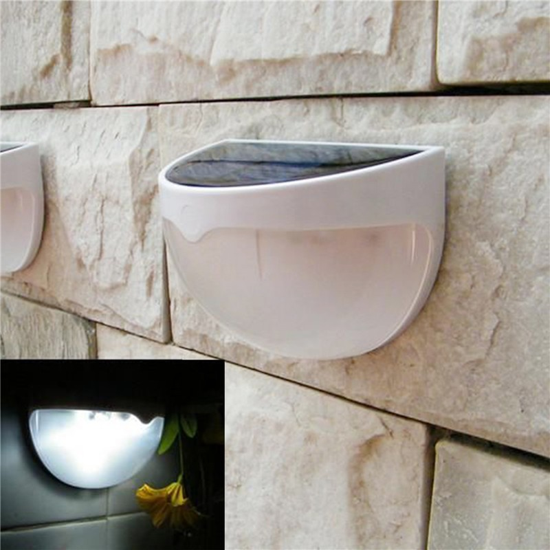 LemonBest-Solar Powered 6 LED Fence Light Auto ON/OFF for Gutter Outdoor Garden Yard   Lamp Roof