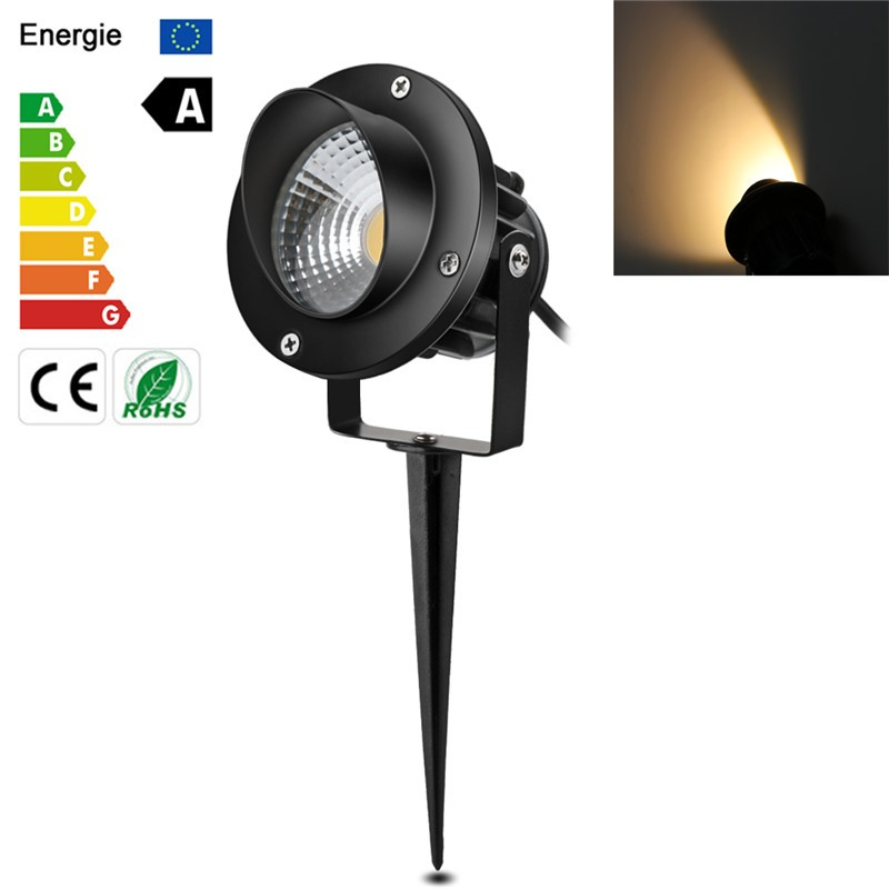 10w Cob Led Garden Spike Lights With Plug Waterproof Ip65