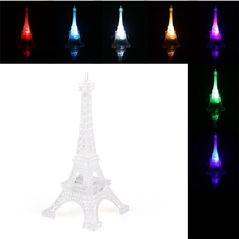 Romantic Eiffel Tower Table LED Night Light Desk Lamp for Christmas Wedding Holiday Decoration Bedroom Decor Lamp Gift