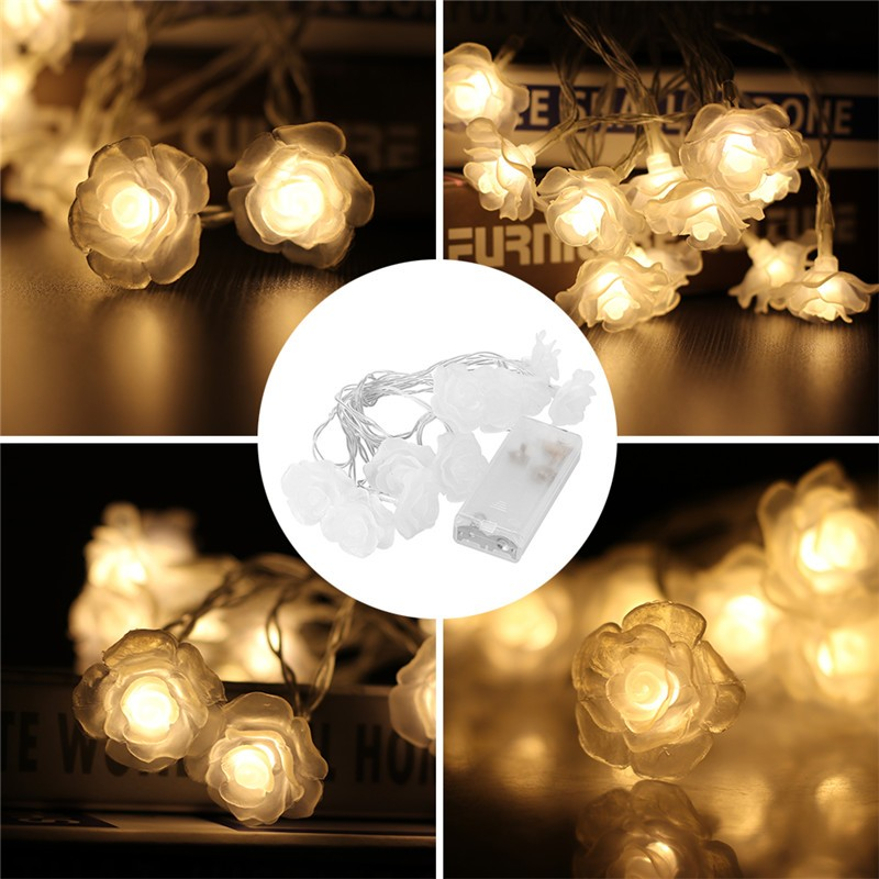 10 Led Love Rose String Lighting Night Light Flower Fairy Lights Party Wedding Christmas Decor