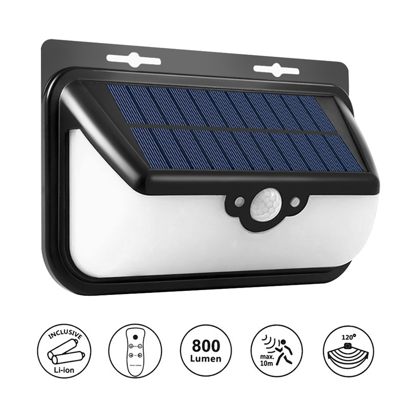 Lemonbest- 68 LED Solar Lights Motion Sensor Security Light, Waterproof Outdoor Wireless Solar Powered Lamp with Remote Control 3 Mode with 120 Degree Wide Angle Sensor Lighting for Garden Fence Stairs Patio Yard Walkwayor Driveway Lighting
