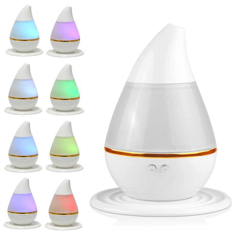 Lemonbest Mini 200ml Ultrasonic Cool Mist Best Humidifier USB Diffuser Nebulizer for Home Office Car with 7 Color Changing LED Light