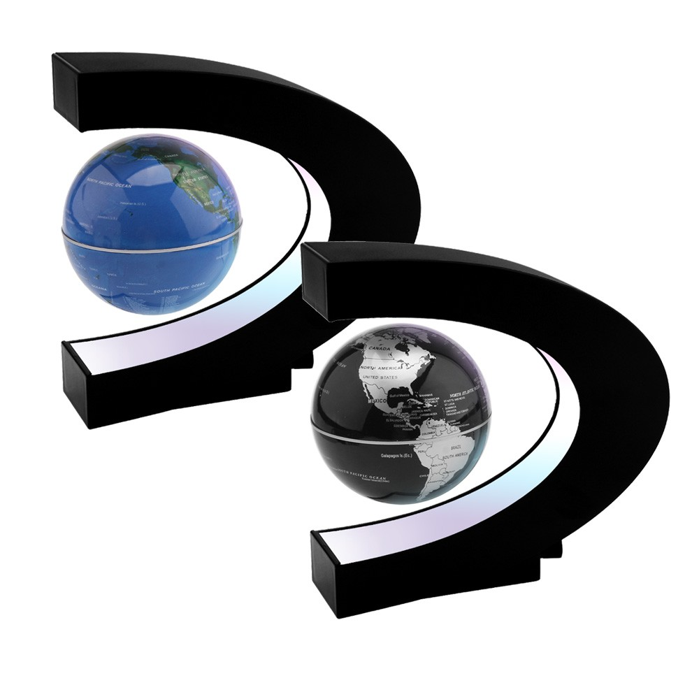 World globe c shape magnetic levitation floting globe world map gumiabroncs Images