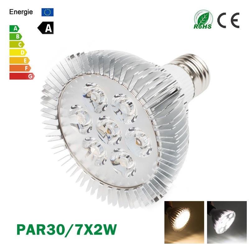 LemonBest-Ultra Bright CREE E27 Dimmable PAR30 7x2W LED Light Bulb Lamp AC85-265V