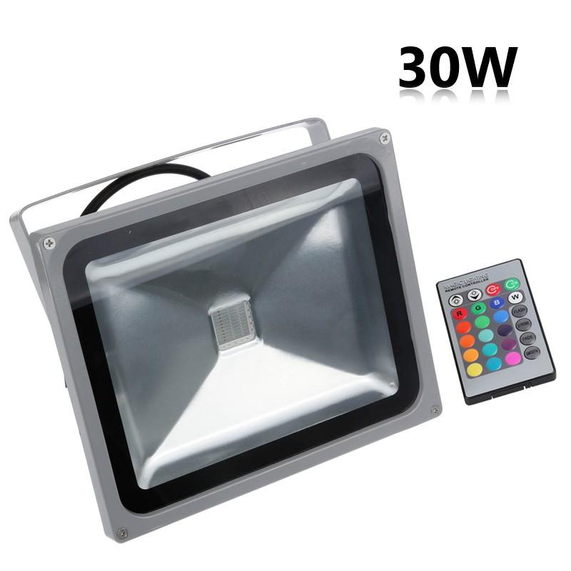 Lemonbest- Waterproof 30W Warm White/Cool White /RBG LED Flood Light Spotlight Lamp AC 100-245V  for Outdoor Garden Landscape