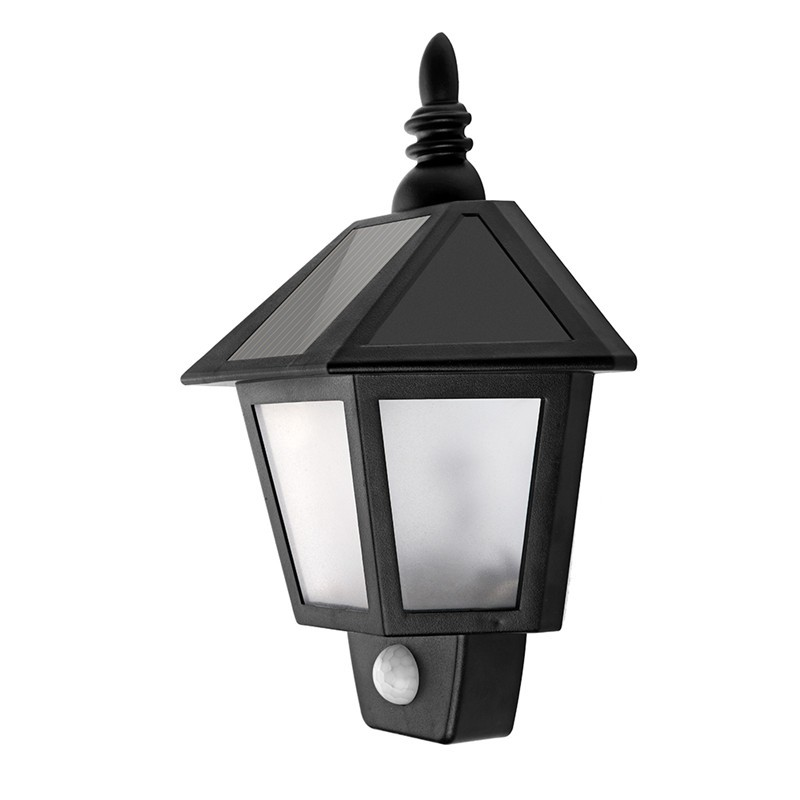 Waterproof Solar Motion Activated Hexagonal LED Light Wall Lamp Night Light Automatically ON at Night for Garden Patio Path Fence Stairways