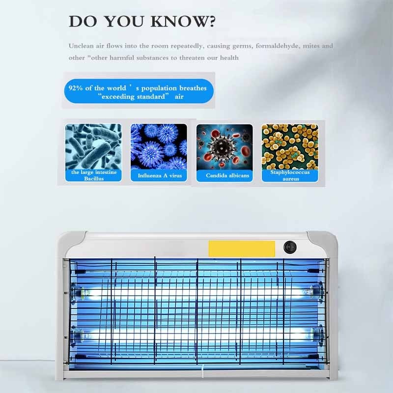 Hanging UV Sterilization Lamp Portable Germicidal Lamp With Ozone Air Purifier For Home Restaurant Hotel
