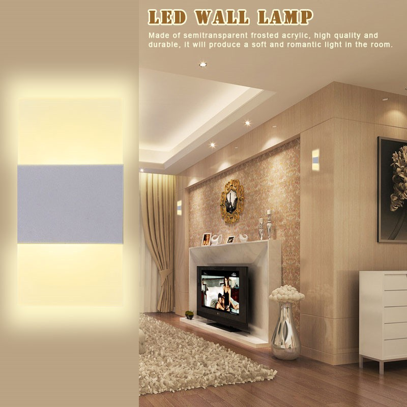 Modern Acrylic 3w Led Wall Lamp Bedside Light Home Indoor