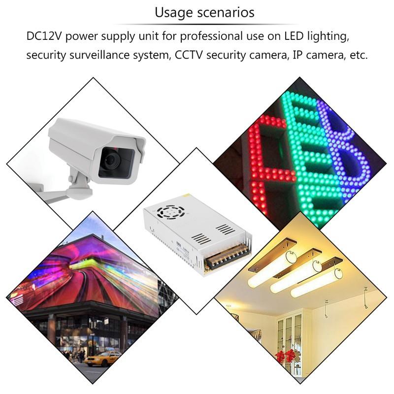 Lemonbest  - 33A 400W Voltage Transformer AC 110-220V to DC 12V Power Supply Adapter Converter for Led Strip Control Led Switch LED Display