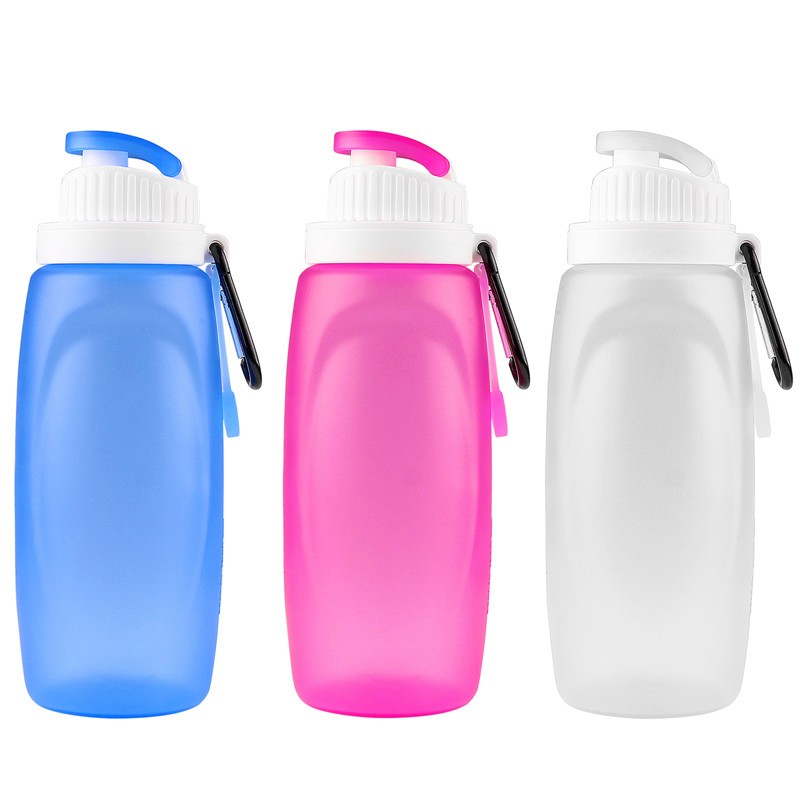 320ml Mini Foldable Silicone Water Bottle Children Kettle Certification -60℃to 200℃ for Travel Outdoor Sport Camping Hiking Walking Running