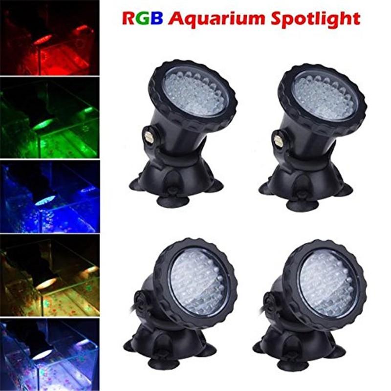 Lemonbest® New 36 LED Colorful Submersible Underwater Aquarium Spot Light for Water Garden Pond Fish tank (Set of 4 lights)