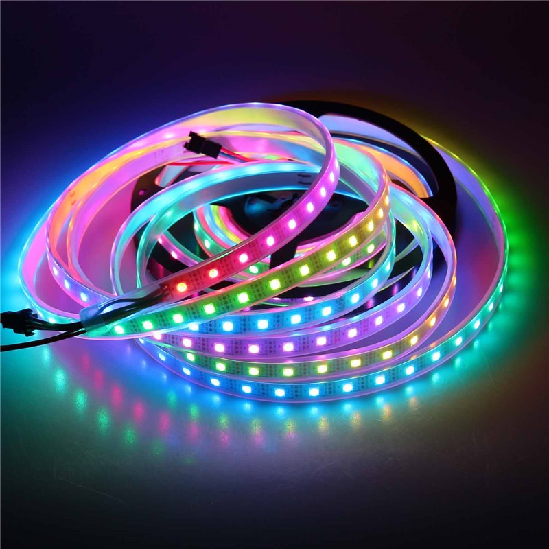 LemonBest-IP67 2811 IC SMD 5050 Dream Magic Color RGB 300-LED Strip Light String Lamp 5m/16.4ft 60LED/m DC 5V