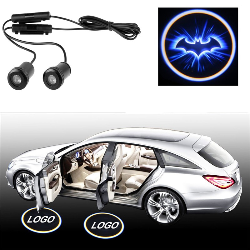 LemonBest-2X Car Door LED Welcome Laser Projector Logo Ghost Shadow Light for Batman
