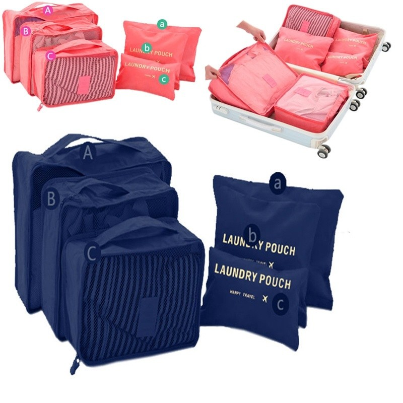 6Pcs/Set Waterproof Travel Clothes Storage Bags Packing Cube Luggage Organizer