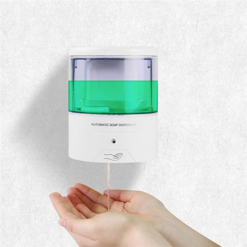 600ml Wall Mount Automatic IR Sensor Soap Dispenser Touch Free Kitchen Soap  Lotion Pump For Kitchen Bathroom