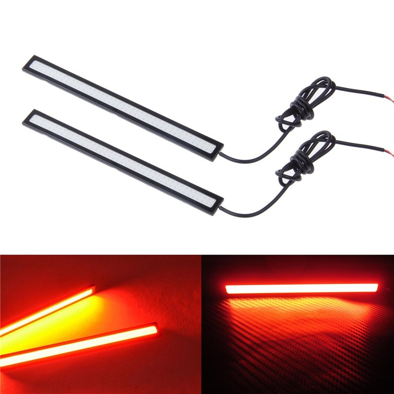 "2pcs Waterproof 17cm/6.7"" 6W Red LED COB Daytime Running Light Fog Lamp for Car DC 12V"