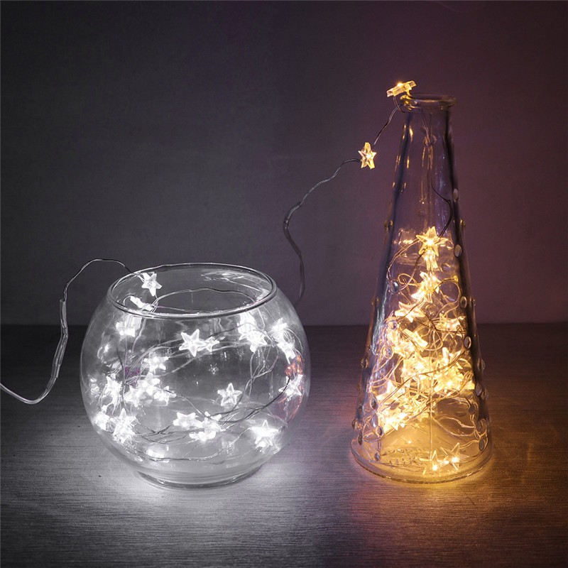 2m 65ft 20 led string lights fairy light button battery operated 2m 65ft 20 led string lights fairy light button battery operated waterproof stars copper wire lamp indoor and outdoor string lamp xmas wedding decor aloadofball Image collections
