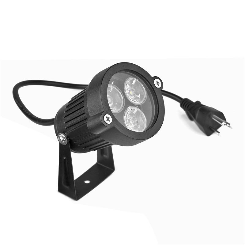 Lemonbest Us Plug 3 3w Led Lawn Garden Flood Light Yard Patio Path Spotlight Lamp With Spike Waterproof Warm White Green Ac 85 265v