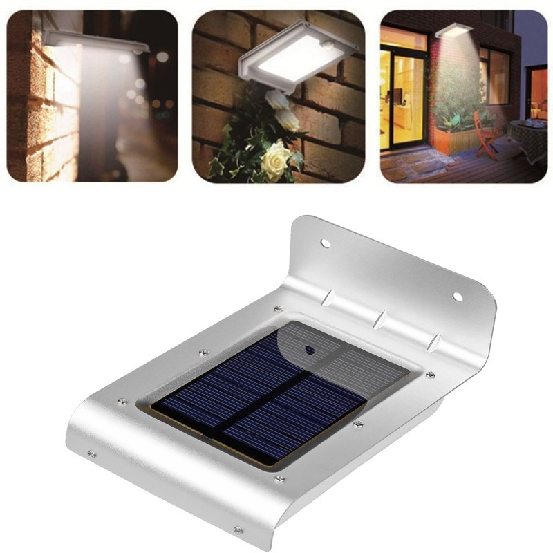 LemonBest-Waterproof 24 LED Solar Powered  Motion Sensor Light Wall Mount Lamp Night Light for Outdoor Garden Patio Path Gutter Fence