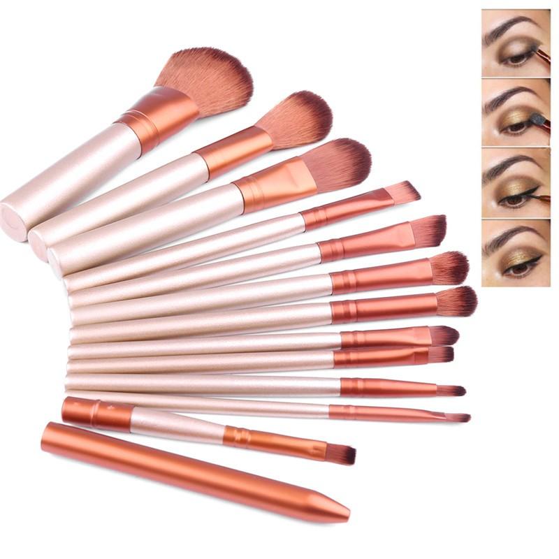 12pcs Makeup Make Up Brush Set Cosmetic Tool Eyeshadow Eyeliner Lip Foundation Concealer