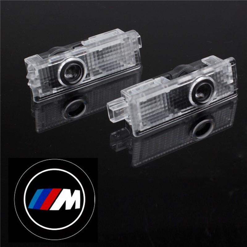LemonBest-2 Pcs Car Door LED Laser Projector Light 3D Shadow Light for BMW M Power LOGO