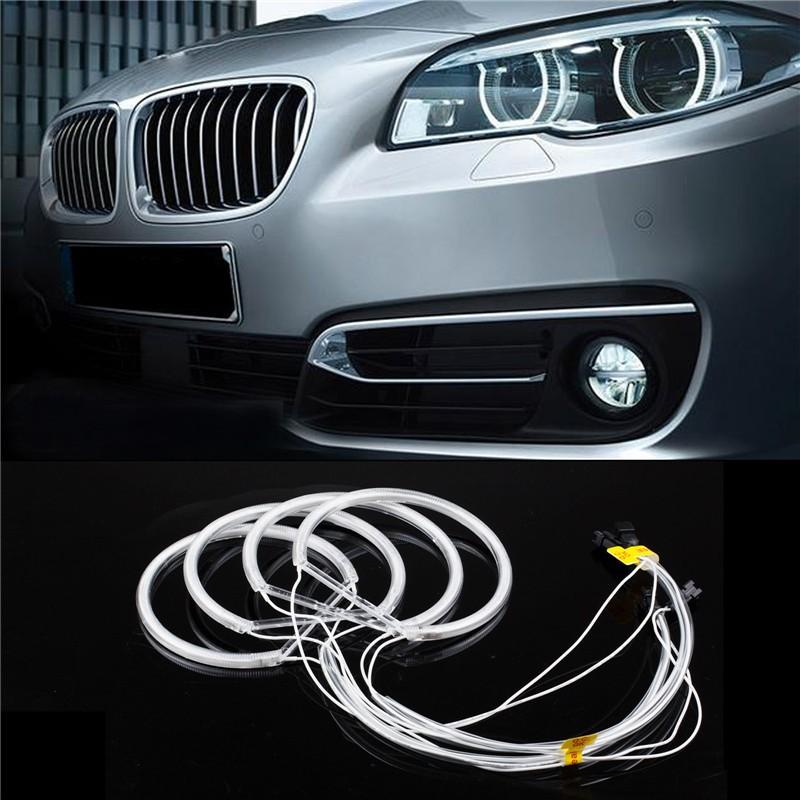 LemonBest 4 Pcs 131mm CCFL Car Angel Eagle Eyes Light Tube Headlight White  Headlamp For