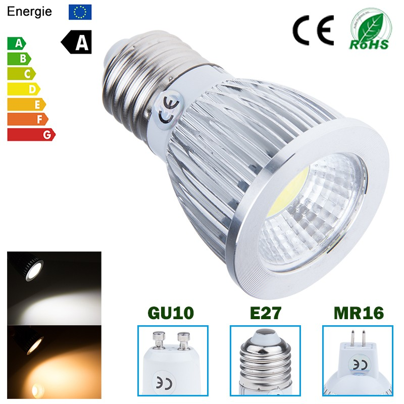 LemonBest Ultra Bright MR16/GU10/E27 Dimmable 6W/9W/12W LED COB Spot down light