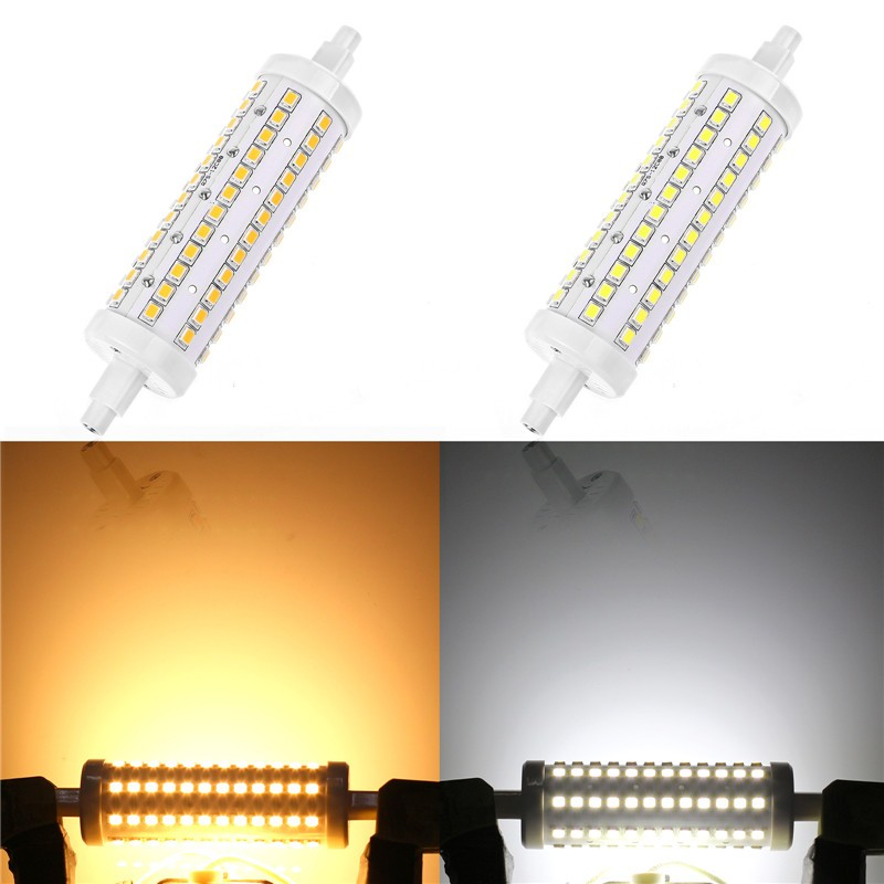 360° Beam 118mm R7S 2835SMD 10W 108LED Horizontal Plug Lights Dimmable Flood Light Corn Lamp Bulb Warm White/Cool White AC 85-265V