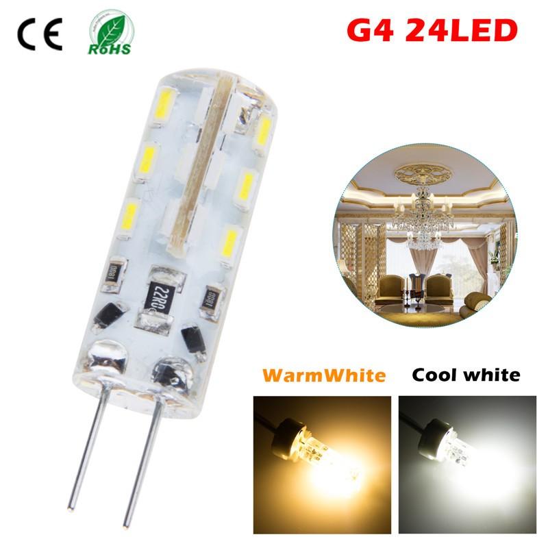 LemonBest - G4 24SMD LED Spot light Bulb Lamp Warm Cool White DC12V Bombillas