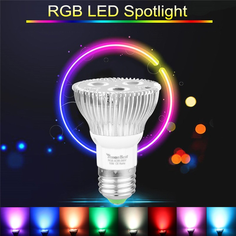 10w Par20 E27 Rgb Led Bulb Stage Lamp Light 16 Colors