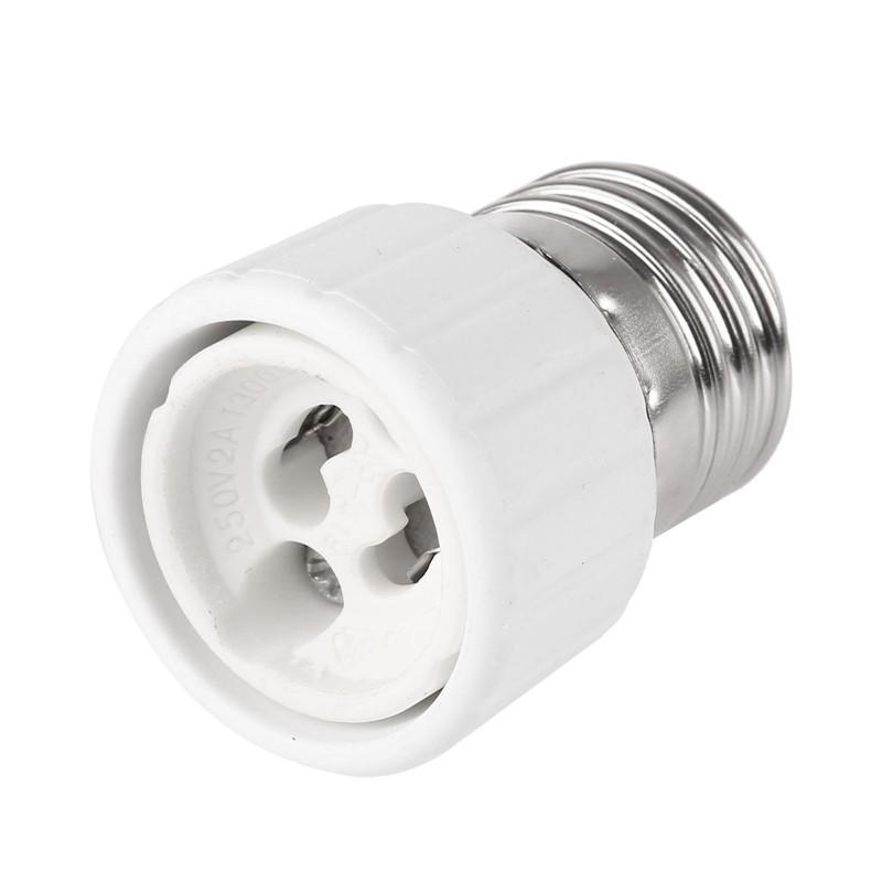 5Pcs E27 to GU10 Fireproof Connector Lamp Holder Converters Socket Adapter Light Bulb Base