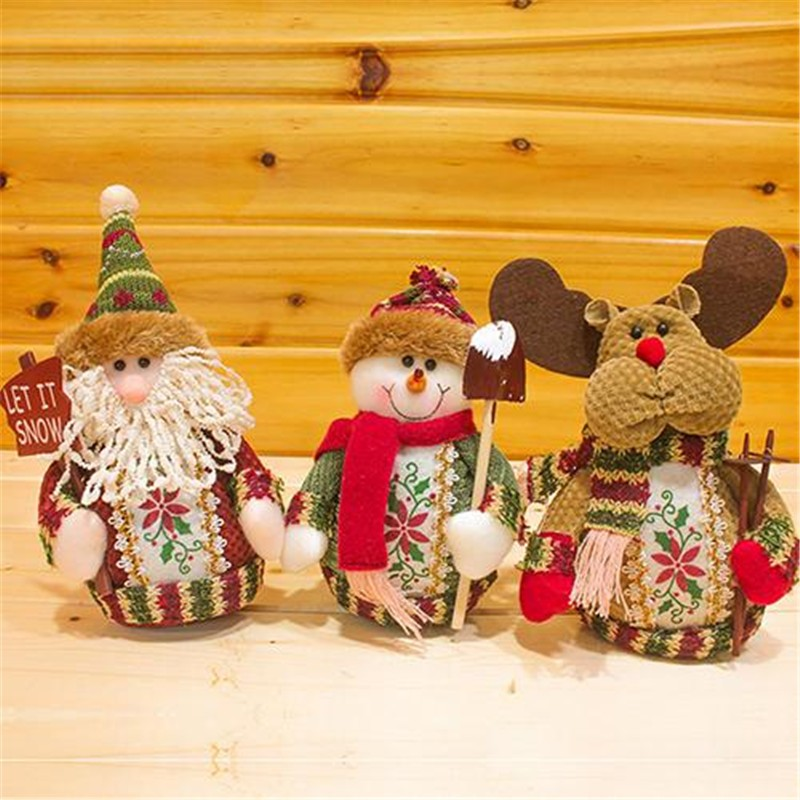 santa claus snow man moose doll christmas decorations xmas tree gadgets ornaments doll christmas gift