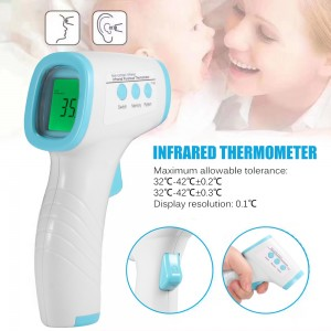 Digital Infrared Forehead Thermometer Contact-less Thermometer Handheld Temperature Gun For Baby Children Adults Pet