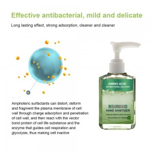 4X 60ml Amino Acid Hand Sanitizer Fungicide Household Cleaning Germs Antu-Bacteria Alcohol-Free
