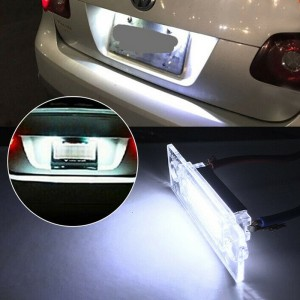 2Pcs 18 LED license plate lights for VW Passat Jetta Caddy Touran Golf Plus
