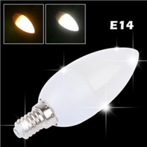 Lemonbest-3W E14 LED Candle Bulb Spotlight Lamp Cool White/Warm White AC 200-265V