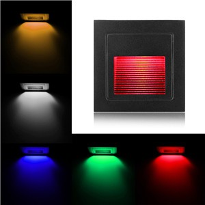 Small Square 3W LED Wall Lamp Night Light for Theater KTV Bar Showcase Restaurant Gallery Living Room Stairs