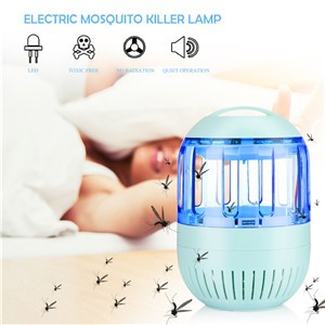 Electronic Ultra Silent Inhalant Mosquito Killer LED Lamp Insect Bug Zapper USB Powered No Radiation for Home Outdoor